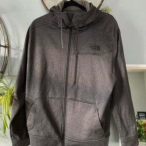 The North Face zip up hoodie.